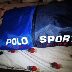 VTG RL Polo Sport Spellout Expandable Bag